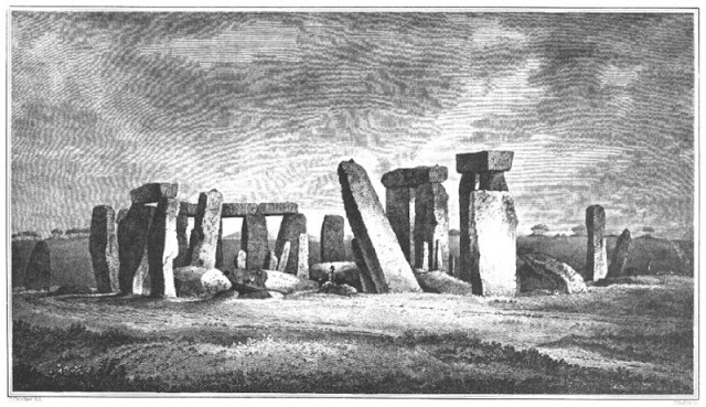 Illustration of Stonehenge, folk horror stories