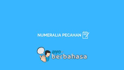 contoh kata bilangan pecahan