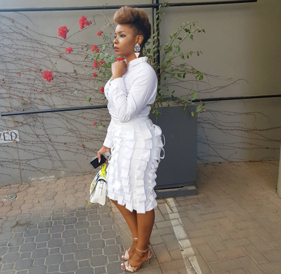 Yemi Alade steps out in all white outfit