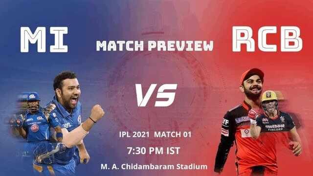 MI vs RCB IPL 2021 Match Live Score update Highlights Watch online free