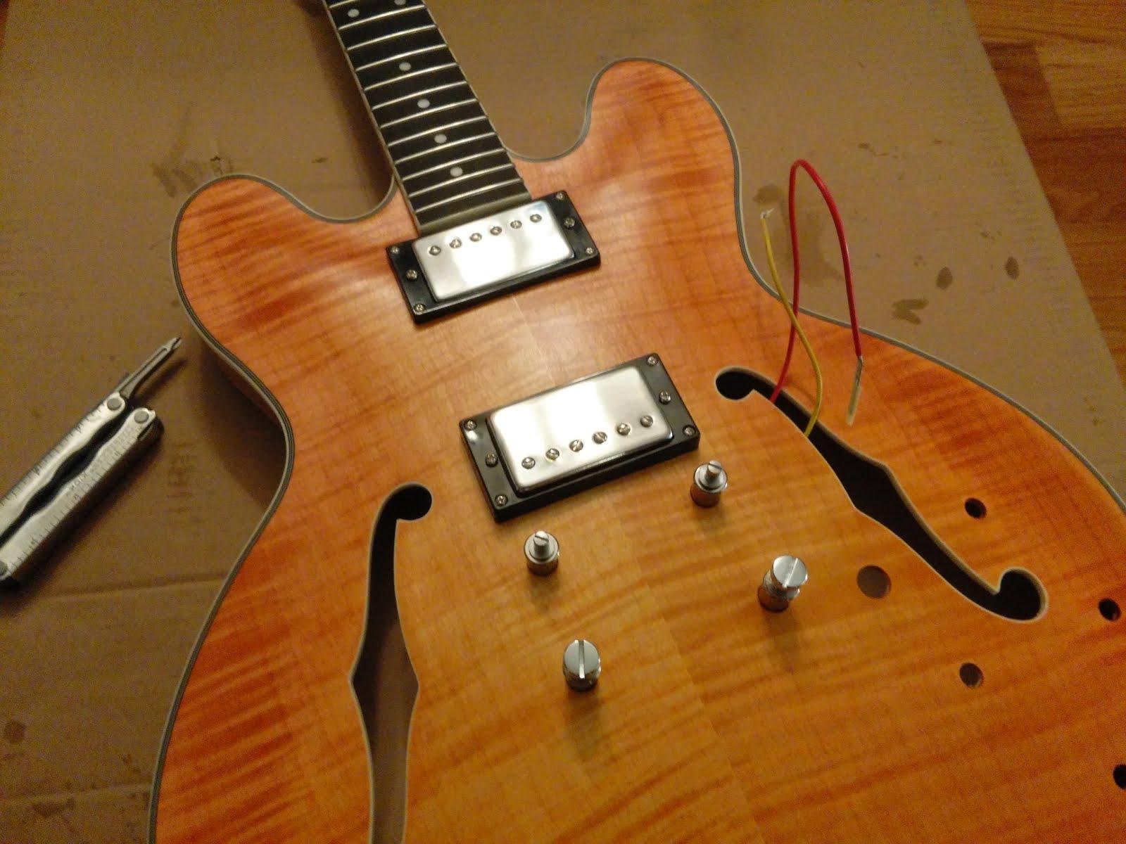 Mattwins   Diy Semi Hollow 335 Guitar Kit Build Part Iii