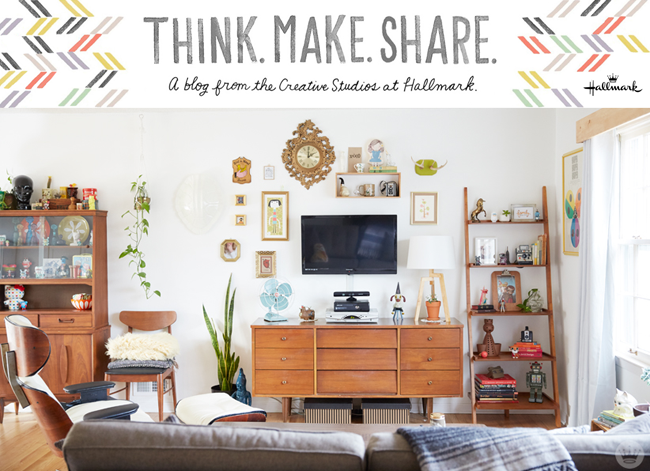 Designers Sandi Devenny & Josh Dusel share a peek into their home over on the Think Make Share blog. Shared on CreativelyCurated.com #hometour #housetour #homedecor #midcenturymodern