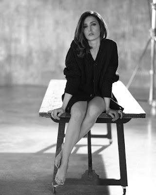 Caterina Balivo foto in bianco e nero