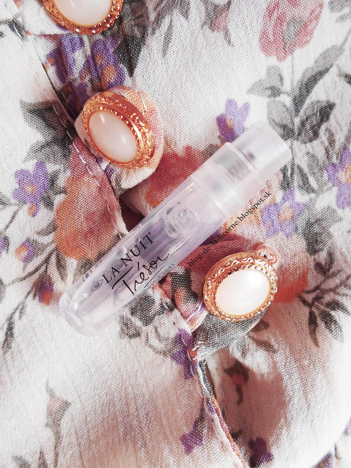 Lancôme La Nuit Trésor parfumovaná voda pre ženy recenzia Blog de la Licorne