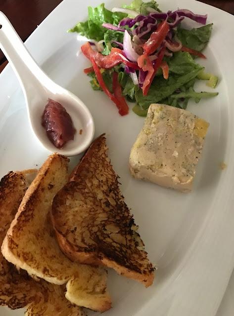 La Table du Chateau, Mauritius, foie gras