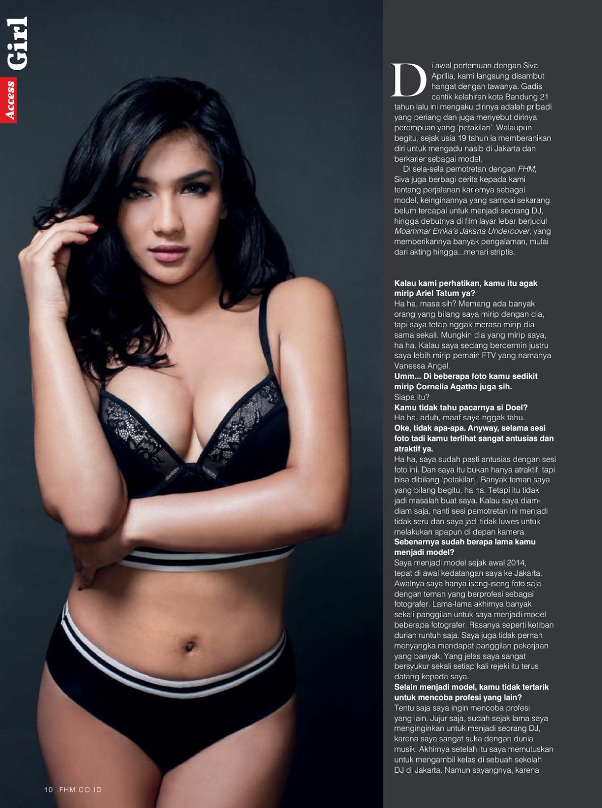 Siva Aprilia, FHM Indonesia February 2017