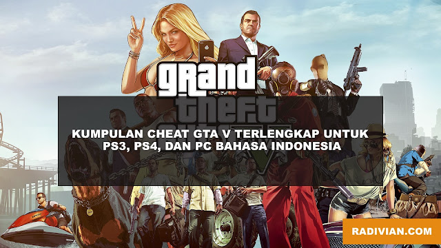 Cheat GTA V PS 3, PS 4, PC