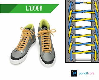 Cara Mengikat Tali Sepatu Tangga (Ladder)