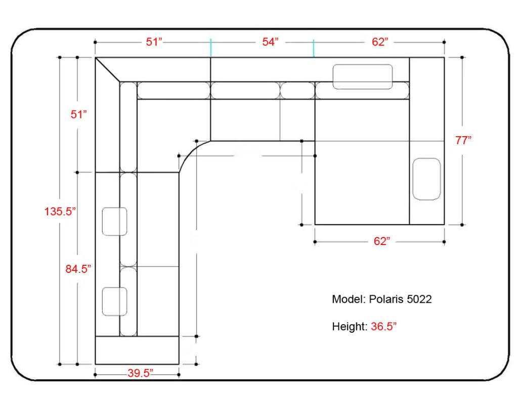 Sectional Sofa Measurements Interior Design
