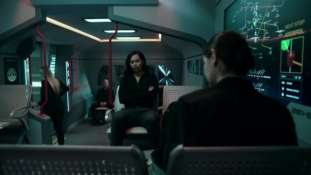 Mars colony metro in Season 4 of The Expanse