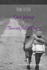 Friday Frivolity Feature - How to Use Kind Words in Beautiful Ways via Medium Sized Family