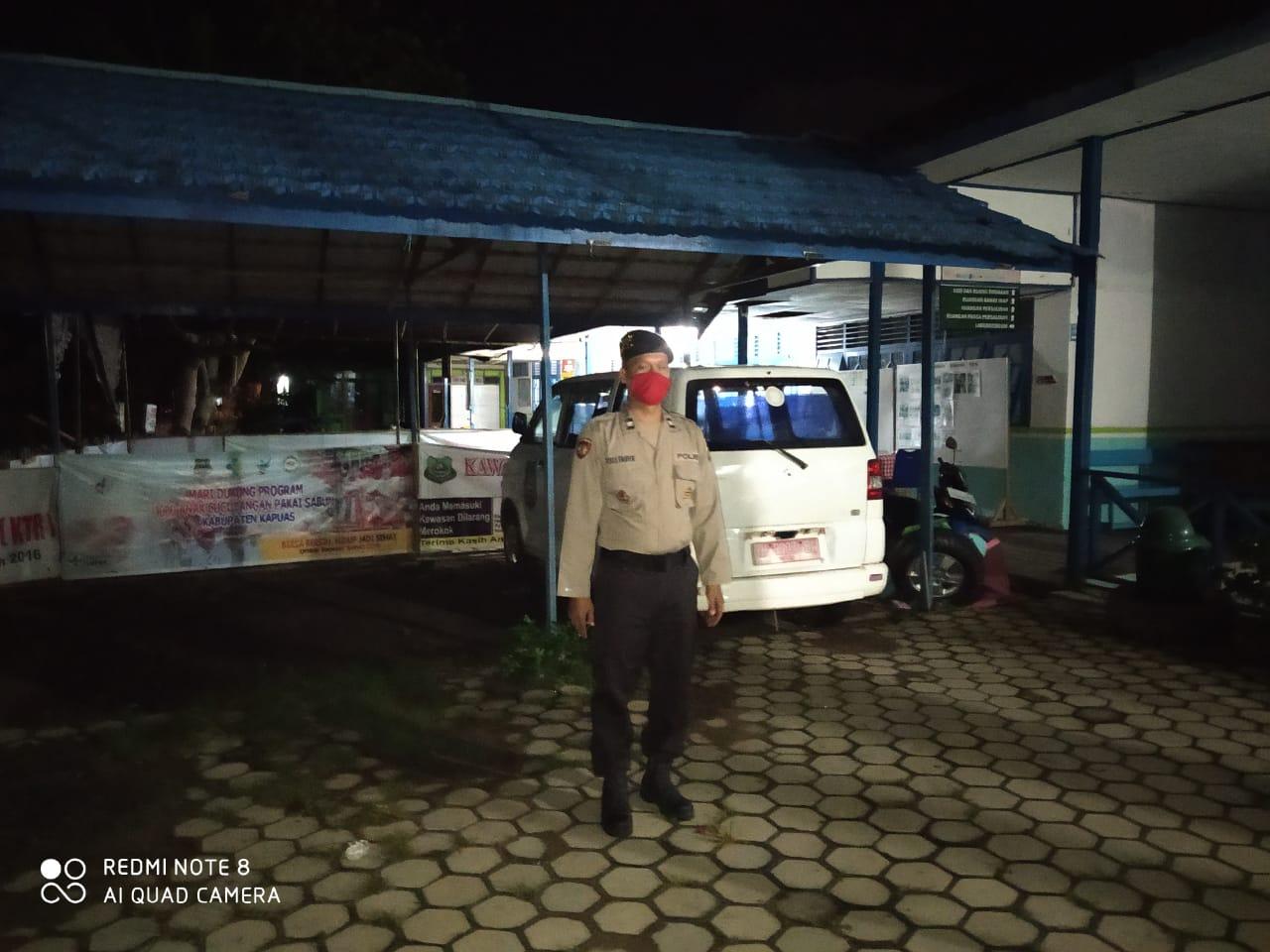 Menekan Tindak Kejahatan, Polsek Kapuas Kuala Patroli Malam