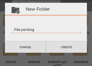 Cara Menyembunyikan ( Hidden) File Di HP Android Tanpa Aplikasi