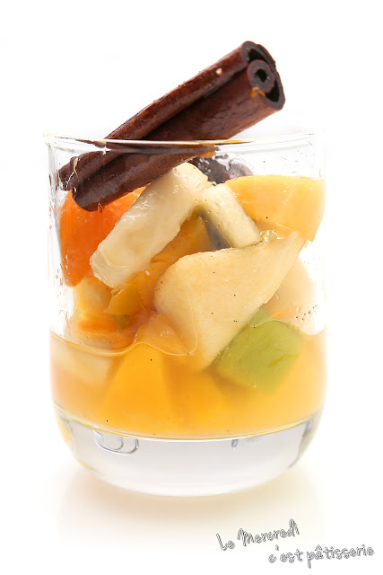 Salade de fruits au sirop d'épices