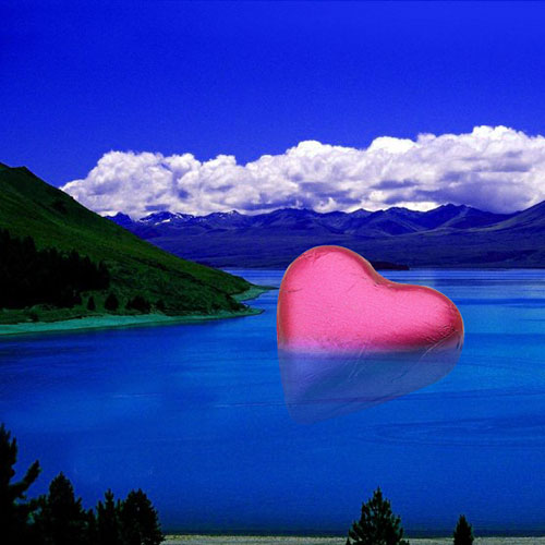 heart image water