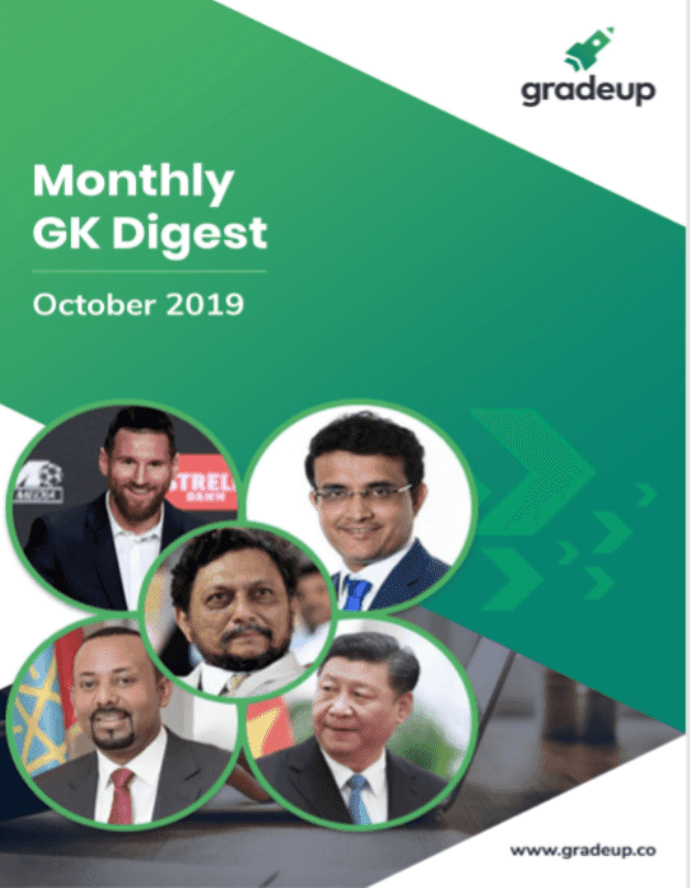 Monthly-GK-Digest-October-2019-For-All-Competitive-Exam-PDF-Book