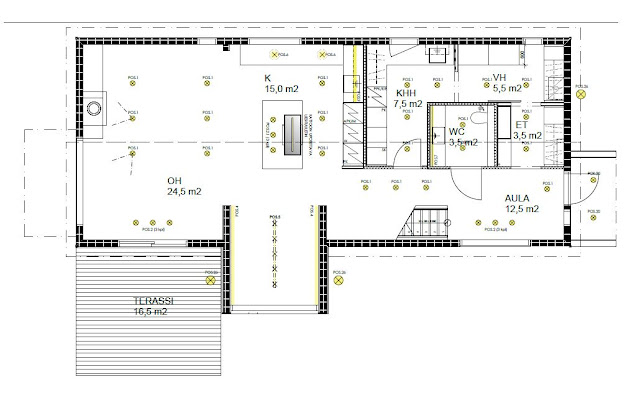 lighting plan, downstairs