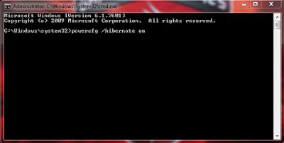 Cara Menambahkan Tombol Hibernate Windows 7 2