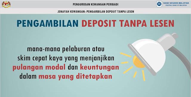 Skim Cepat Kaya : Pengambilan Deposit Tanpa Lesen