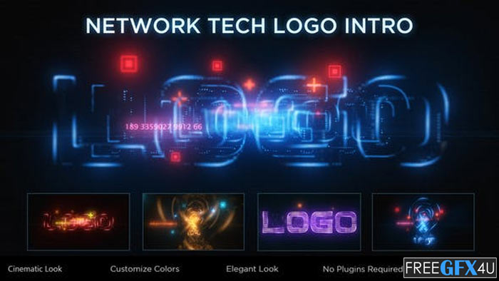 Network Tech Logo Reveal After Effects Project