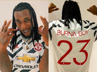 Burna Boy Receives Jersey Gift From Manchester United