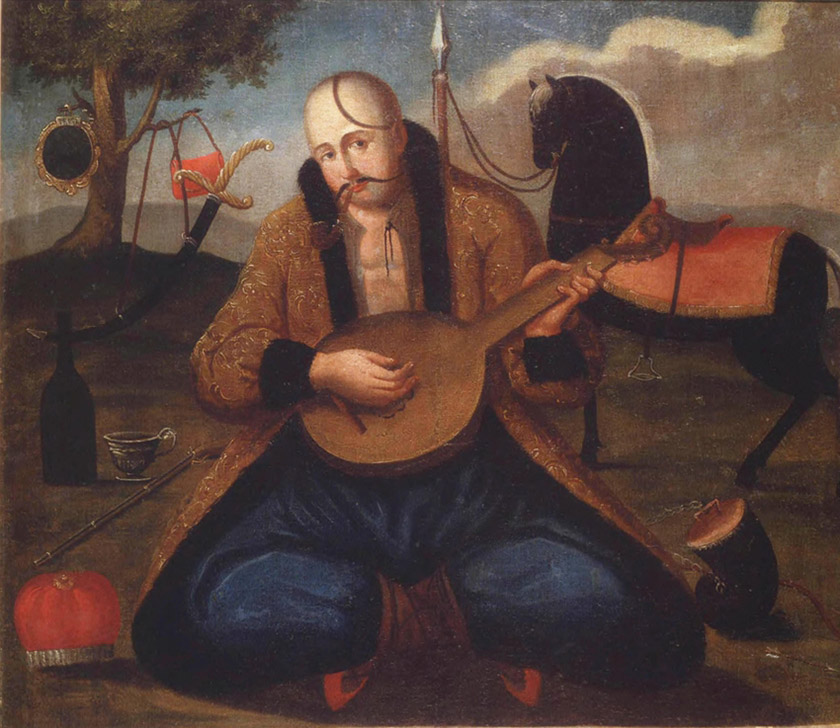 Картина «Козак-бандурист» невідомого автора (XIX ст.)
