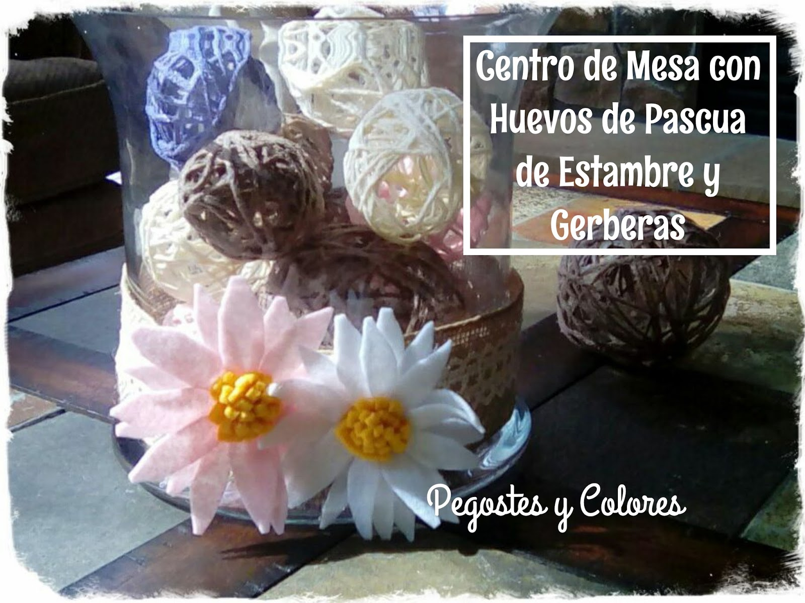 Pegostes y colores decoracion de pascua corona velas y - Centros de mesa de pascua ...