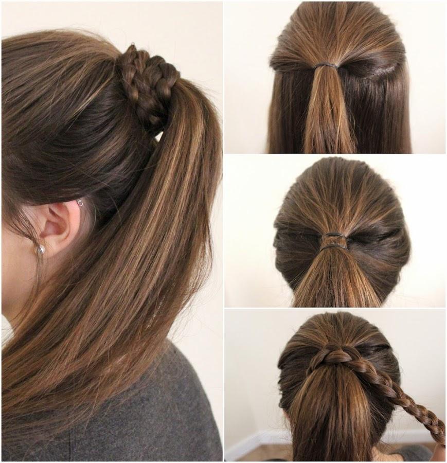 Peinado cola de caballo con trenza
