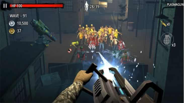 Zombie Hunter D-Day v1.0.825 MOD, One Hit / God Mode - Game hành động cho điện thoại