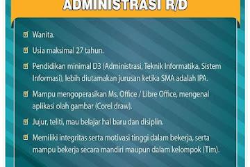 Lowongan Kerja Staff Administrasi Pudak