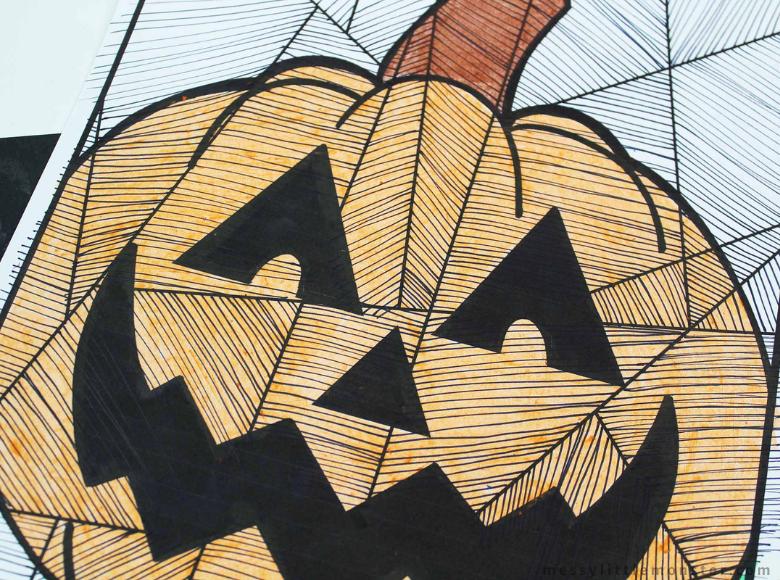 Halloween Pumpkin Colouring Page