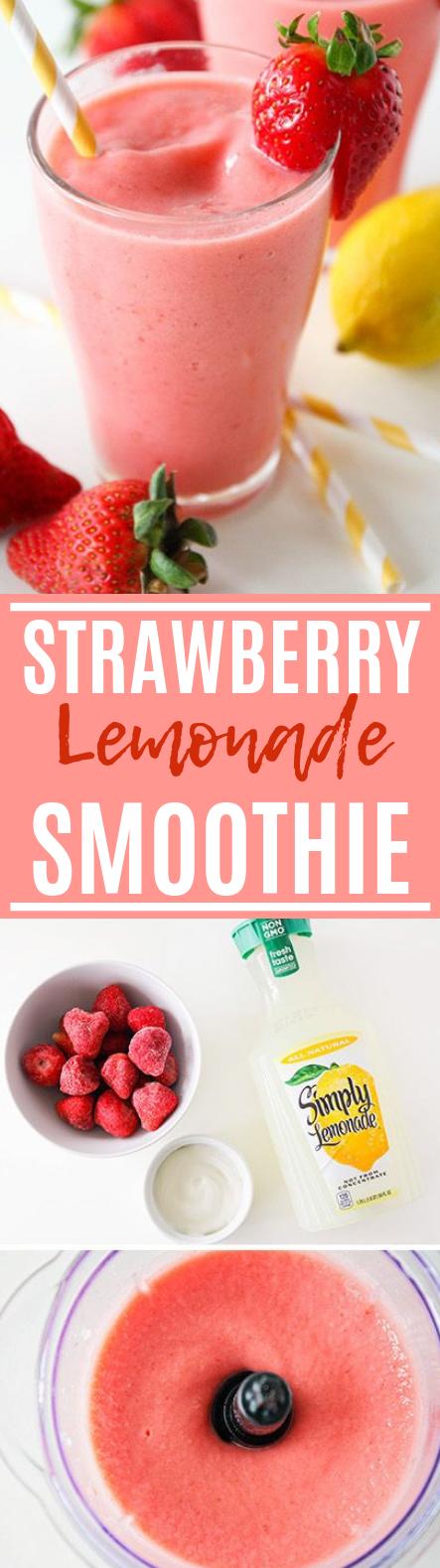 Strawberry Lemonade Smoothie #healthy #drinksrecipe