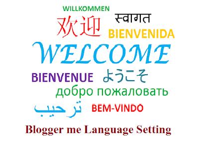 blogger language setting