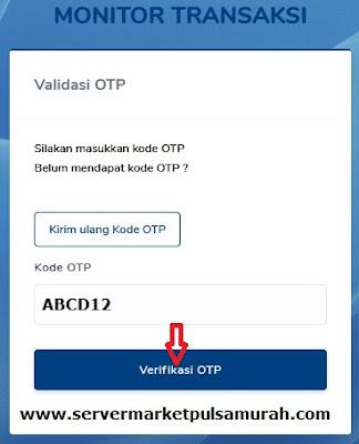 validasi OTP web report market pulsa