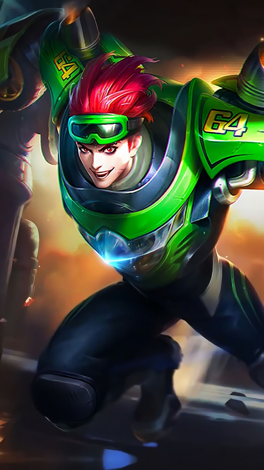 Wallpaper X.Borg Moto Drifter Skin Mobile Legends HD for Android and iOS
