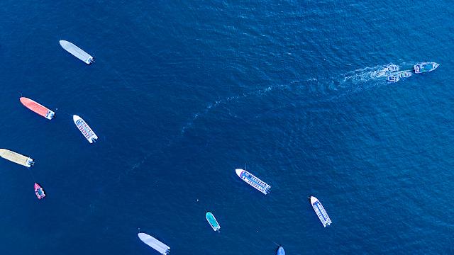 màu xanh từ đại dương