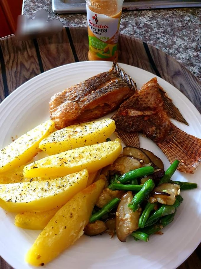 Fish and Potatoes recipe-how to fry potatoes and fish