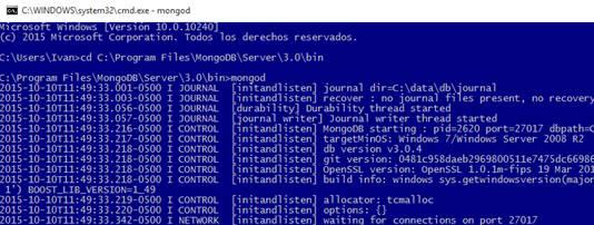 MongoDB Instalación y puesta en marcha