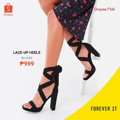 Lace Up Heels Shopee