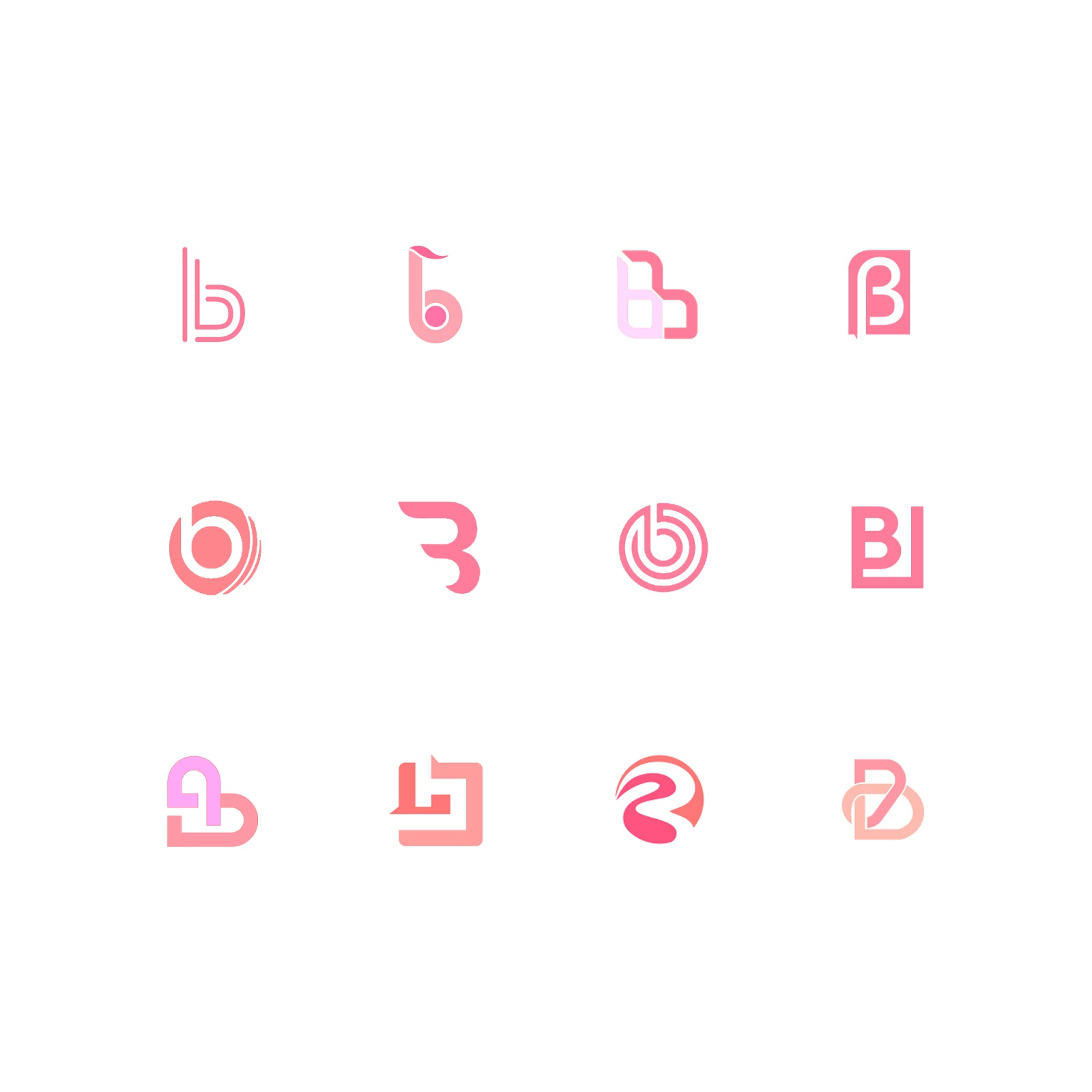 B Alphabet Creative Logo Design