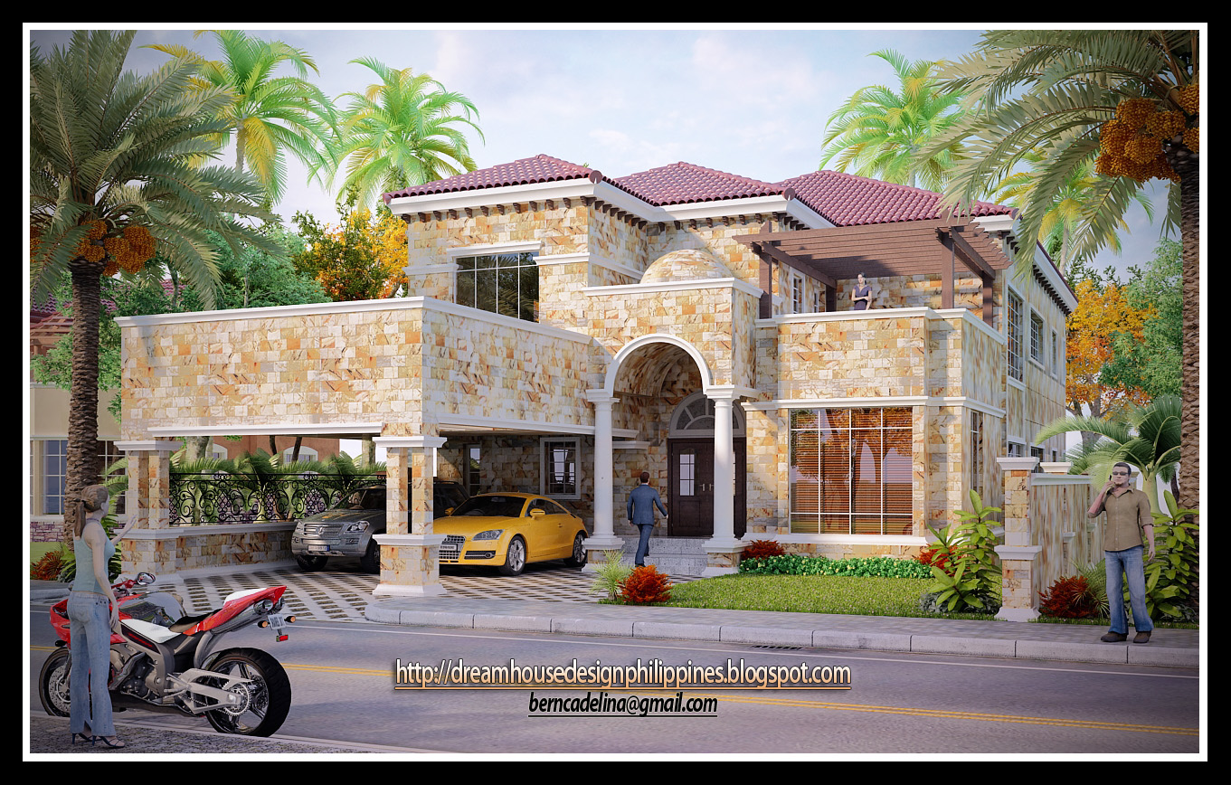 Philippine dream house design mediterranean house 2 for House design com