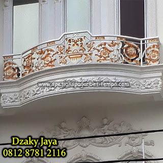 Motif Railing, Tangga, Balkon, Besi, Tempa, Klasik, Mewah