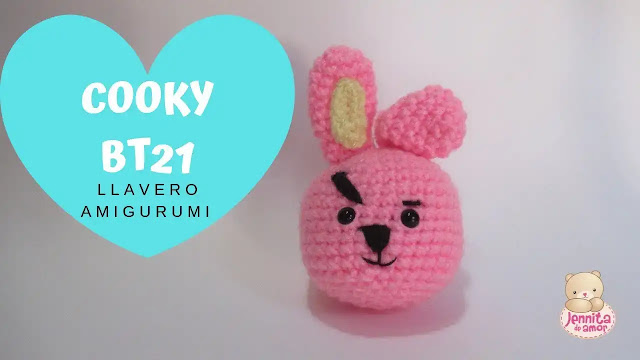 Tutorial Llavero Cooky BT21 de BTS a Crochet