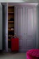 Beautiful soft purple wardrobe for chic bedroom idea