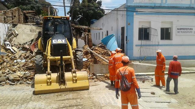 Prefeitura de Goiana esperou biblioteca pública de Tejucupapo desabar e não tomou providência
