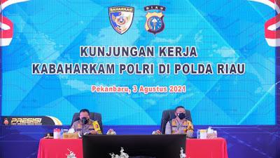 Kabaharkam Polri Apresiasi Penggunaan Tehnologi Dalam Penanganan Karhutla Di Riau