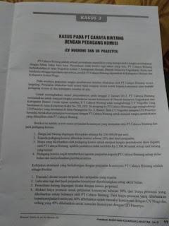 kasus pada PT CAHAYA BINTANG dengan Pedagang Komisi yaitu CV Nughroho dan UD Prasetyo