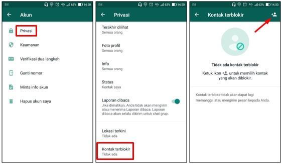 Cara Memblokir Nomor WhatsApp Orang Lain