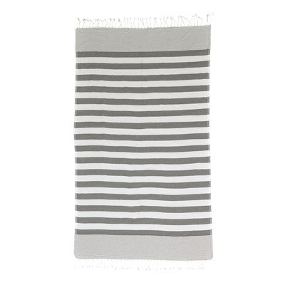gray striped turkish towel
