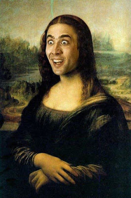 Monalisa with nicholas cage face